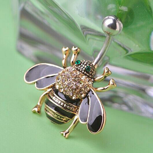 Bumble Bee Navel Belly Button ring - Your Weekend Wardrobe