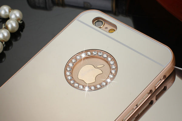 Luxury Diamond Mirror Case For iPhone 6, 6s, 6/6s Plus, 5, 5s, 5C