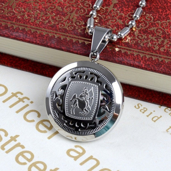 12 Zodiac Signs - Gold / Platinum Plated Pendant Necklace