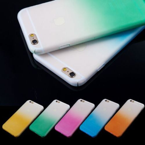 Rainbow Ombre Gradient Case Cover For iPhone 6 6S Plus