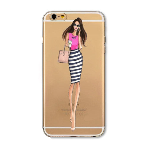 High Fashion Cover For iPhone 7 6 6S 5 5S SE 7Plus 6sPlus 4S