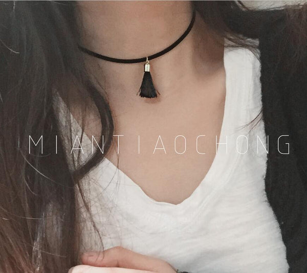 90's Women Black Velvet Choker