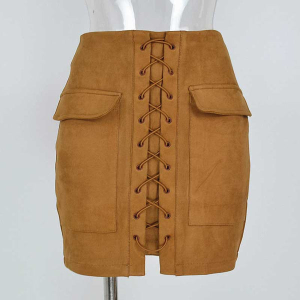 90`s Vintage High Waist Preppy Mini Skirt