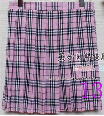 Hot Midi Women Skirts Uniform Preppy Style A Line Girl Pleated Plaid Skirt High Waist Short Tartan Skirts Saias