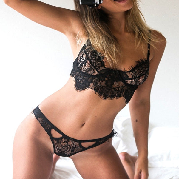 Sexy Lingerie Lace Underwear Vest Top G-string Panty