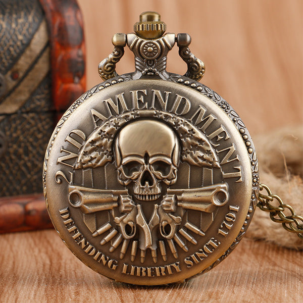 2nd Amendment Vintage Pocket Watch