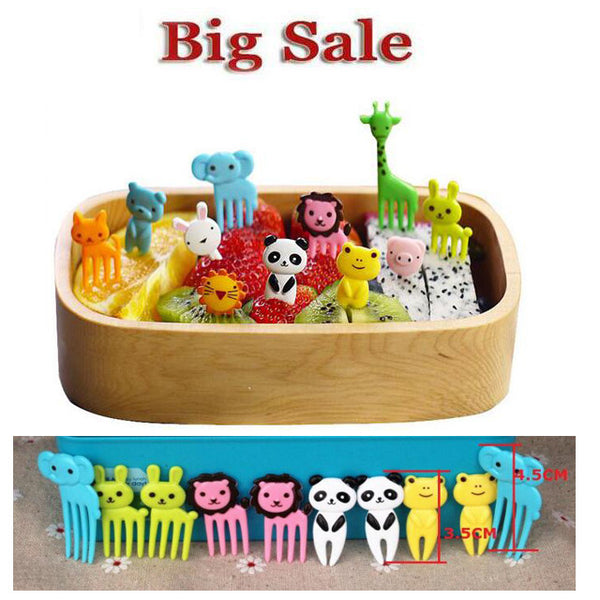 10pcs/set Animal Farm Bento Box
