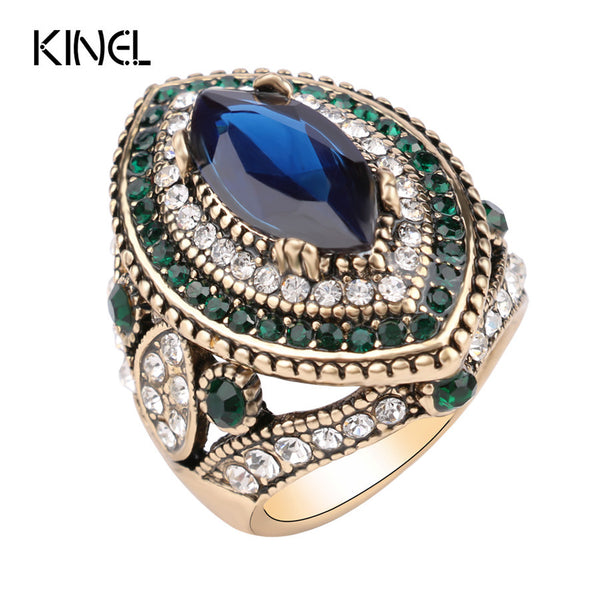 Vintage Jewelry: Big Turquoise Ring