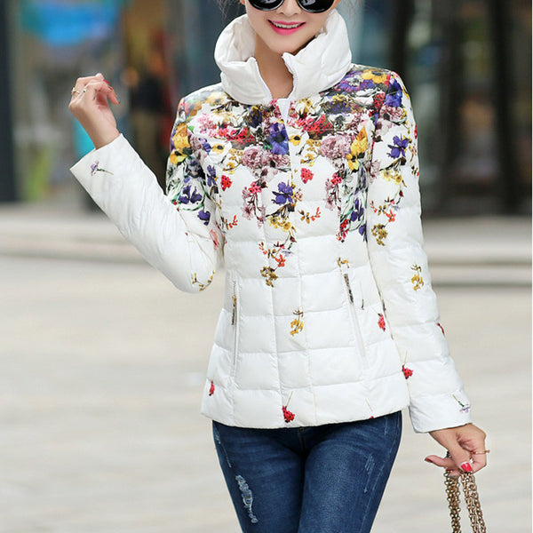 Flower Wadded Parka