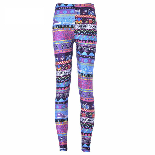 Retro Print Leggings