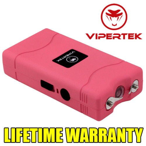 VIPERTEK Mini 35 Million Volt STUN GUN - Bonus Rechargeable LED Flashlight
