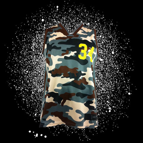 "Camo Sublimated Jersey<br> <B><font color=""red"">OFF THE SHELF</font></B>"