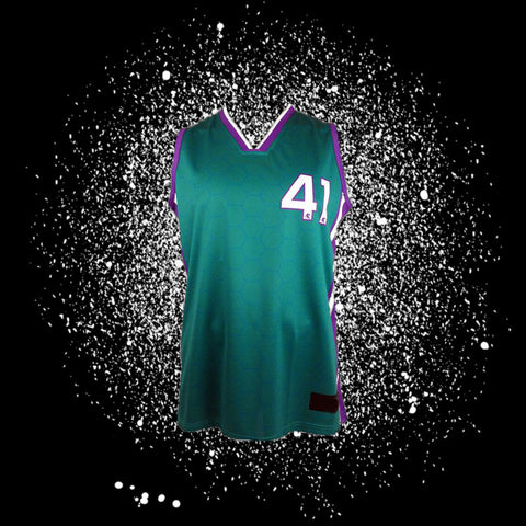 "Teal Sublimated Jersey<br> <B><font color=""red"">OFF THE SHELF</font></B>"