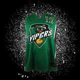 "Vipers Sublimated Jersey<br> <B><font color=""red"">OFF THE SHELF</font></B>"
