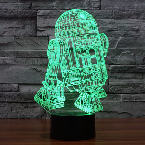 Amazing 3D Star Wars R2D2 LED Lamp