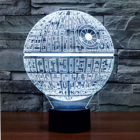 Awesome 3D Death Star Lamp