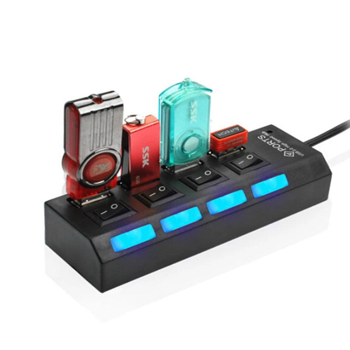 Convenient Mini High Speed USB 2.0 4 Port Hub