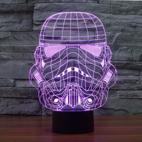 Awesome 3D LED Stormtrooper Lamp