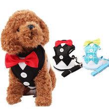 Bowtie Tuxedo Dog Harness With Leash