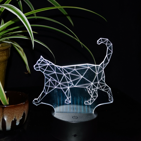 Amazing 3D Illusion Walking Cat Lamp