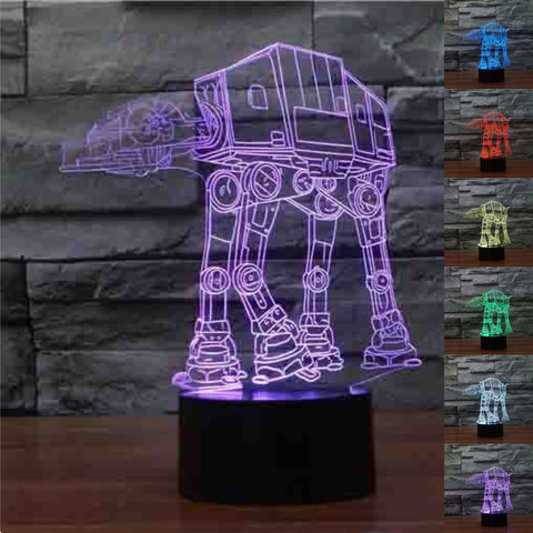 AT AT Star Wars 3D LED Lamp
