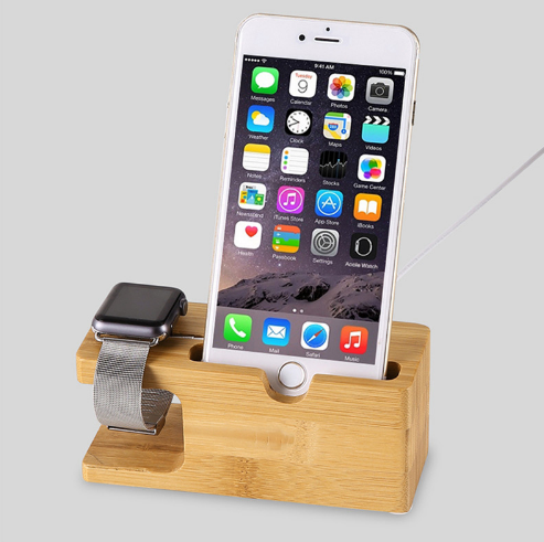 Bamboo Charging Dock Station For Apple