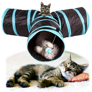 3 Way Collapsible Cat Tunnel