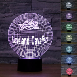 3D Cleveland Cavaliers Basketball Lamp