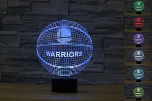 3D Illusion Golden State Warriors Basketball Lamp
