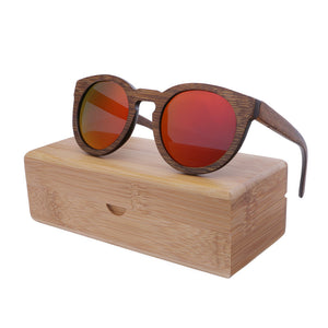 Colorful Bamboo Wood Polarized Sunglasses