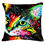 Artistic Animated Cat Throwpillow Covers