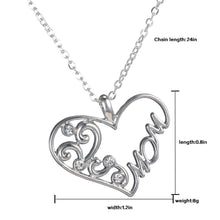 "Sterling Silver Heart ""Mom"" Pendant"