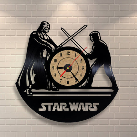Darth VS. Luke Vinyl Record Clock