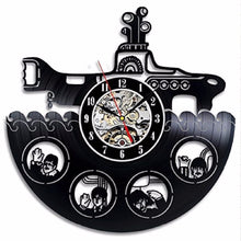 Yellow Submarine Vinyl Record Clock