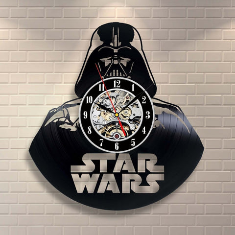 Darth Vader Vinyl Record Clock
