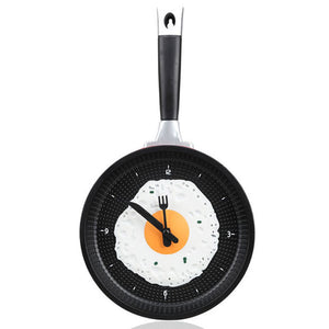 Decorative Fried Egg Chef's Clock