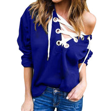 Women's Lace Up Casual  Hoodie Sweatshirt