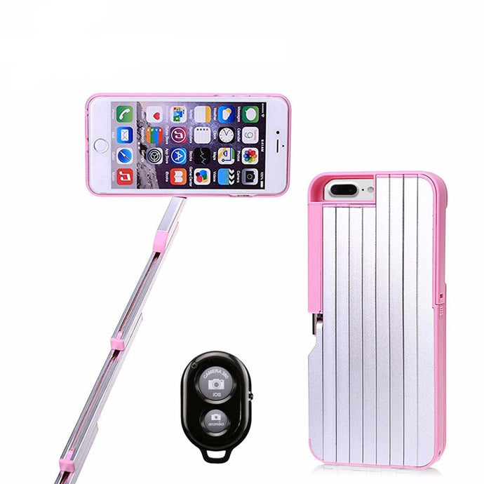 Convenient Retractable Selfie Stick iPhone Case