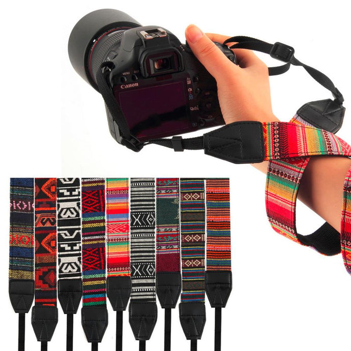 Colorful Vintage Style Camera Straps