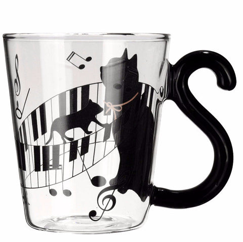 Cute Glass Cat Tail Mug