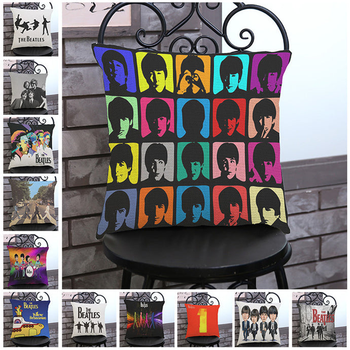 Classic The Beatles Pillow Cover