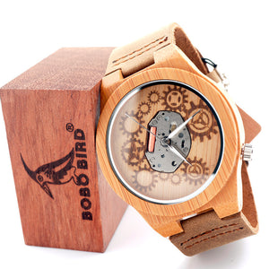 BOBO BIRD Visible Movement Wooden Watch