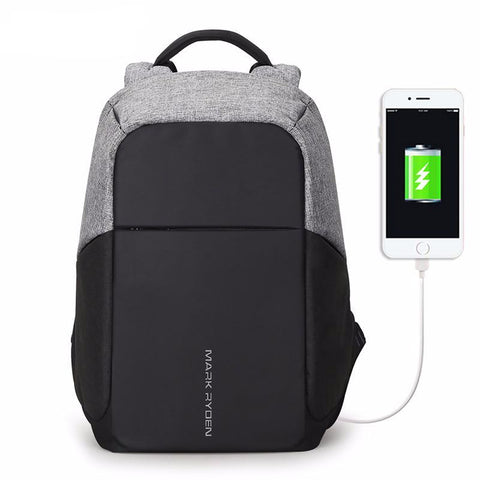 Anti-Theft USB Laptop Backpack