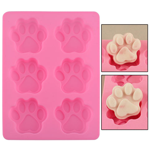 Cute Paws Cube Chocolate Silicone Mold