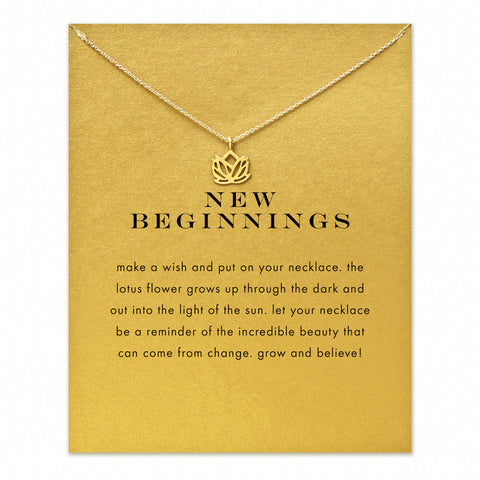 14K New Beginnings Lotus Necklace