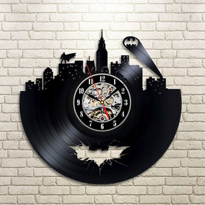 Batman Arkham City Vinyl Record Clock