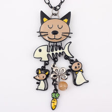 Brilliant French Colored Cat Enamel Pendant
