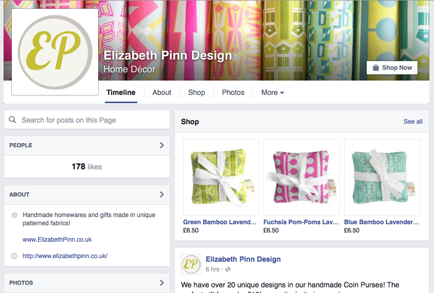 Shop through Facebook!