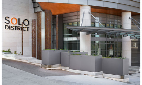 Custom Commercial Outdoor Metal Planters