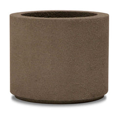 "Baja Concrete-Look Round Planter Pot - 19"" Tall"